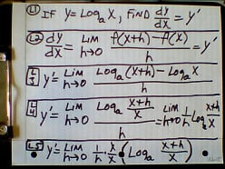 The Derivative of a Logarithmic Function and Logarithmic Differentiation: