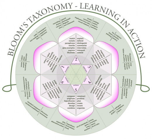 Bloom's Taxonomy as a rose