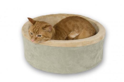 luxury heated cat bed