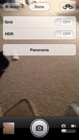 "Tap ""Panorama."""