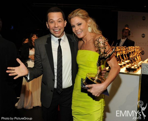 Emmy Award winners Jon Cryer (Two and a Half Men) and Julie Bowen (Modern Family).  Funny people.