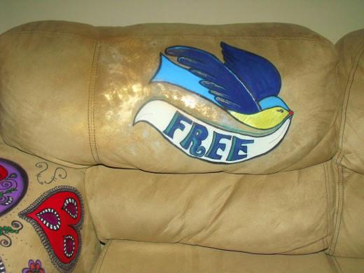 Left back cushion