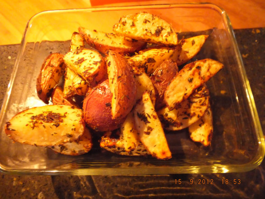 Nothing is more enticing than fresh roasted potatoes. It's happy food!