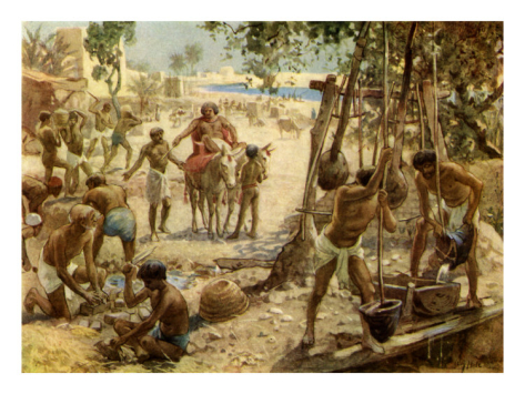 """The Israelites Making Bricks In Egypt"" by William Brassey Hole"