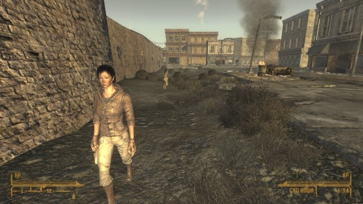 One of the scummier parts of the city of New Vegas.