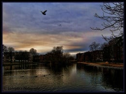 Cold winter evening ! By the River great Ouse, Bedford, England