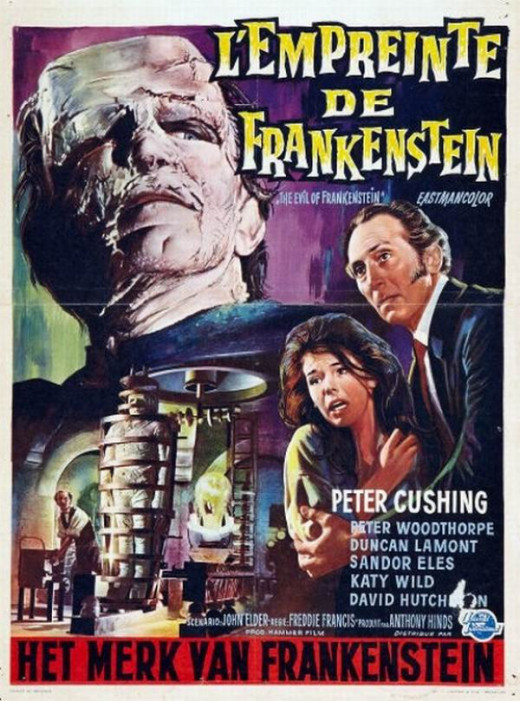 The Evil of Frankenstein (1964) Belgian poster
