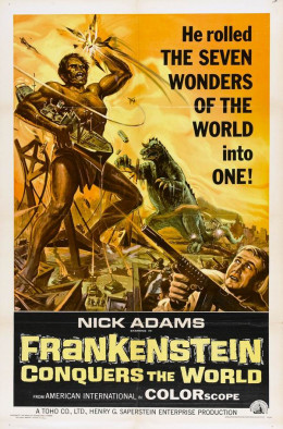 Frankenstein Conquers the World (1965) poster