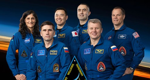 Three more aboard in October 2012: Flight Engineers Kevin Ford, Oleg Novitskiy and Evgeny Tarelkin arrive via Soyuz TMA-06M spacecraft. Ford will command Expedition 34.
