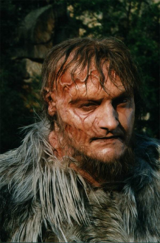 Randy Quaid as the monster in Frankenstein (1992)