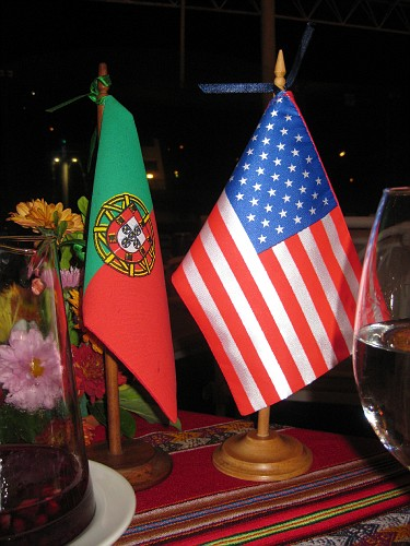 Costa Verde sets flags on the table for guests
