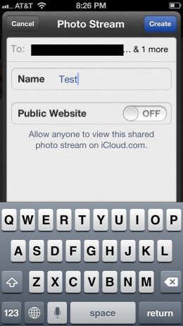 """Fill in the requested information and then tap """"Create."""""""