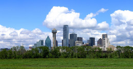 Dallas Skyline From The Area Of The Trinity River