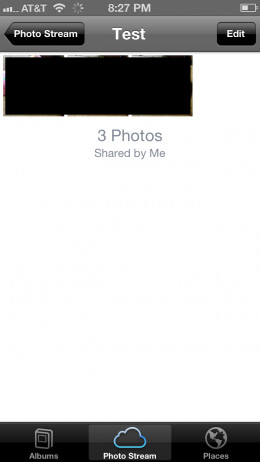 You'll be redirected to the contents of your photo stream, which will display the photos you just added to it.
