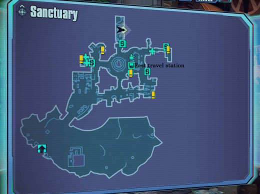 Borderlands 2 Sanctuary Map