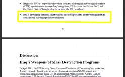 Bush Deleted Intel Report Passage Saying Saddam Would Only Attack in Self-Defense