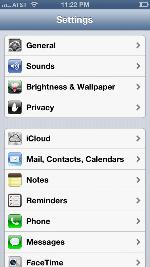 "Tap ""Settings"" and then ""iCloud."""