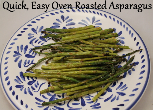 Quick, easy oven roasted asparagus