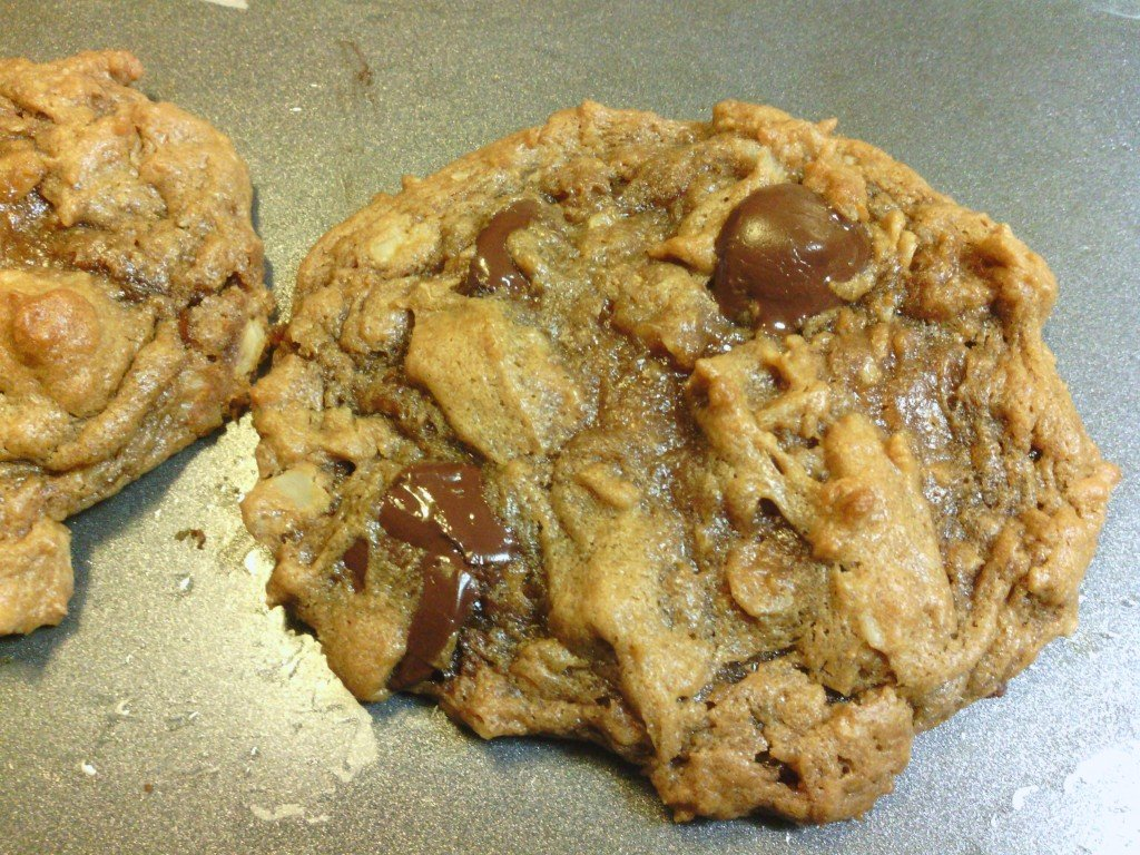 Flourless Gluten Free Peanut Butter Oatmeal Chocolate Chip Cookies ...
