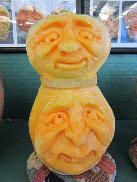Double Headed Pumpkin Carving