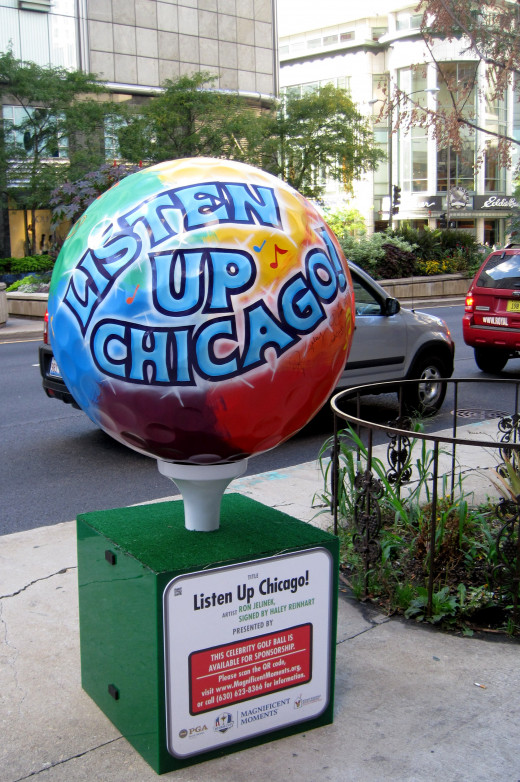 """Listen Up Chicago"" by Ron Jelinek and  signed by Haley Ronhart"