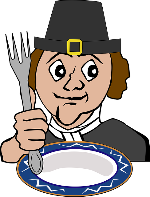 The Plymouth Colonists and the Wampanoag Indians are acknowledge as having the first Thanksgiving Day feast.