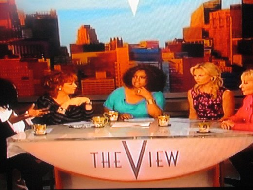 The ladies prepare for their next segment with Dr. Drew.