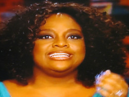 Sherri Shepherd is very effective at getting her point across. She laughed with the audience about a pair of shoes that Whoopi gave her.