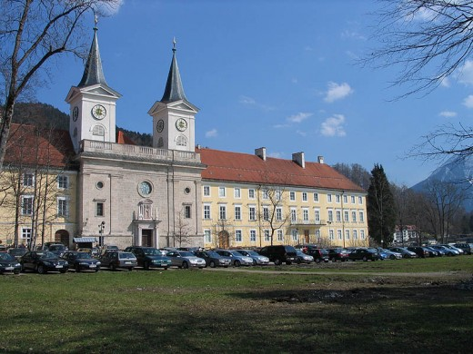 The Monastery at Tegernsee is now an Abbey