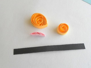 Parts for creating side profile of a butterfly.