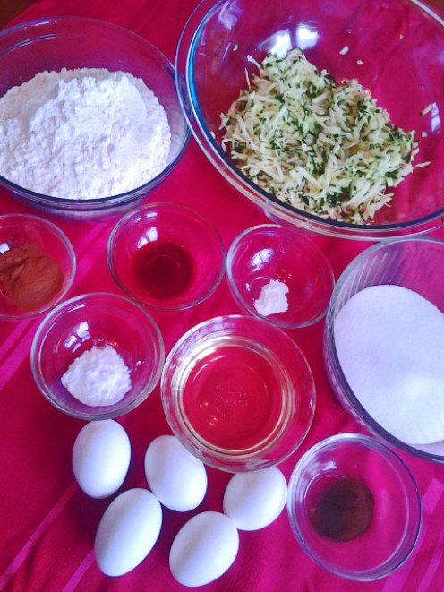 Zucchini bread ingredients