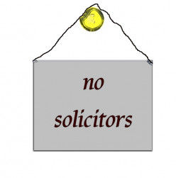 How often do solicitors knock on your door?