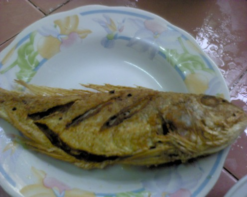 Deep fry fish and remove to a plate