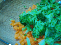 Steamed carrots and broccoli