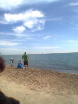 My friends on the beach