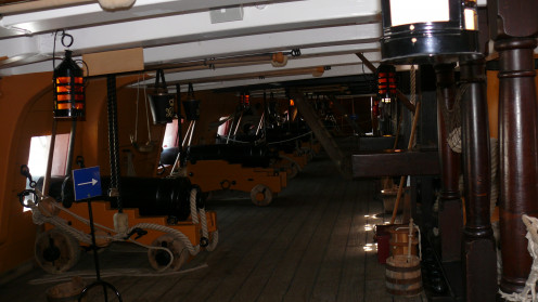Gun deck on HMS Victory