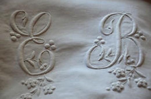 Lovely old linens on eBay.