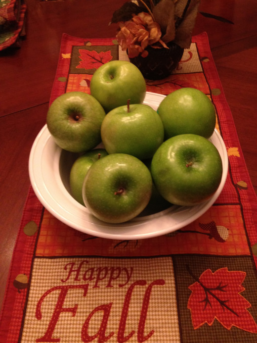 Granny Smith apples have a crisp, juicy flavor perfect for a fall dessert recipe such as apple pizza.
