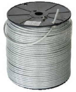 "Heavy 3/16"" plastic coated cable"