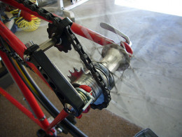 Smaller chain guides and tensioners are not designed for keeping your chain on during extremely rough patches