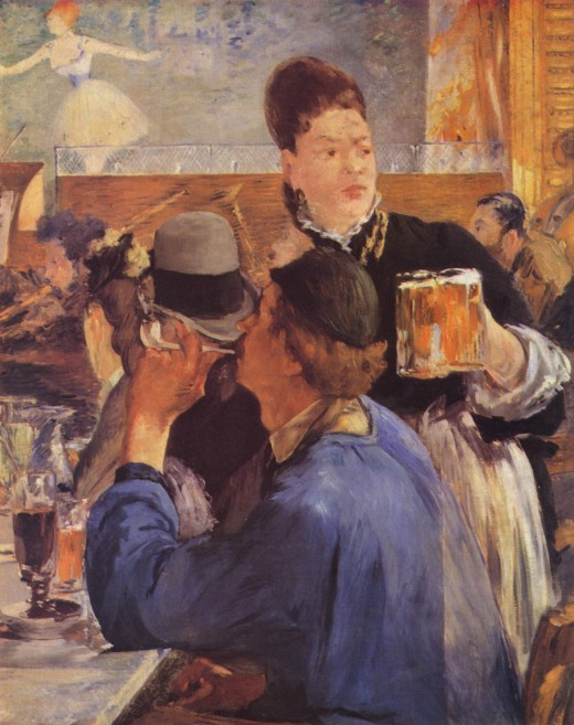 This Manet painting pictures a very popular past time.
