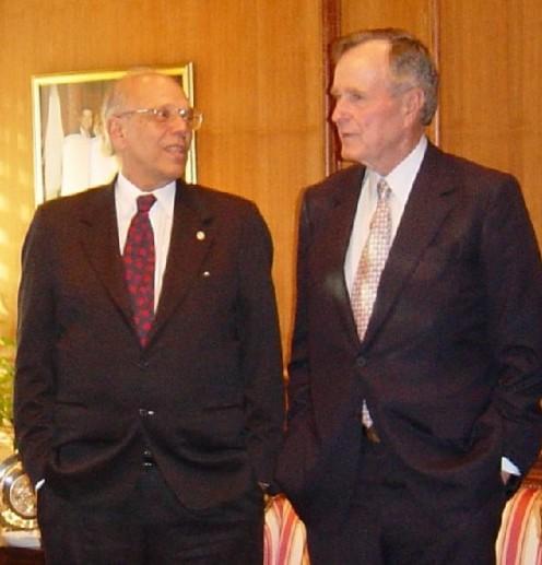 President Jorge Batlle and US President George H W Bush