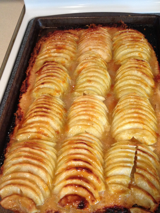 Bake until the apples are golden brown.