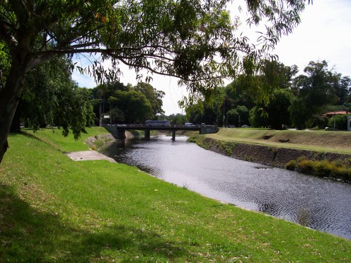 The Miguelete River and the Millán Avenue Bridge