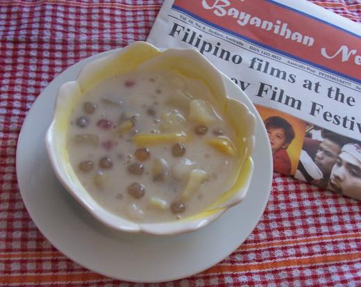 Favourite Filipino Merienda- Ginataang bilo-bilo.