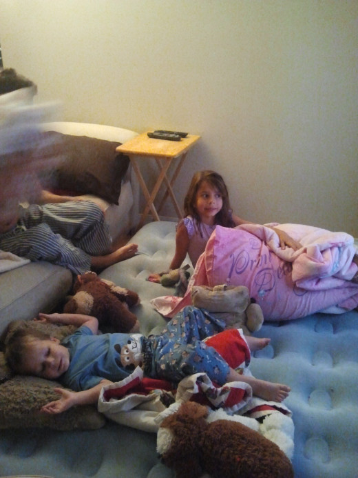 Sleepover at home