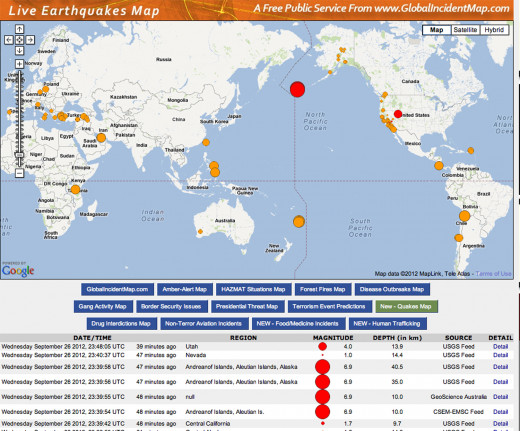 This 6.9 earthquake on Wednesday Sept. 26, 2012 at the southwestern tip of the Aleutian Islands only emphasizes the continuous seismic activity in the immediate area.