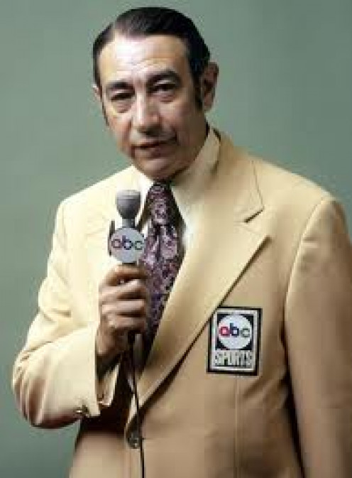 Howard Cosell Courtesy Ring Magazine 1987. Cosell is known for Telling It Like It Is.
