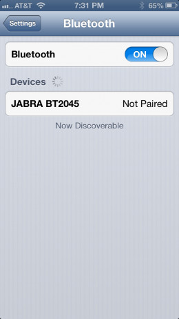 Place your Bluetooth device in Pairing mode and then place it near your iPod Touch.