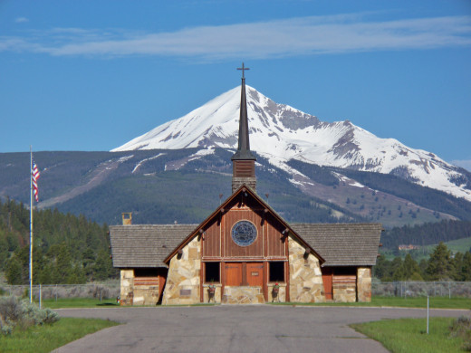 Church in Big Sky, Montana